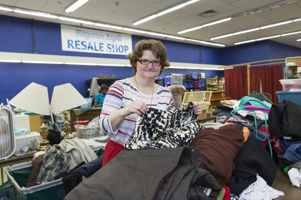 Volunteers can serve Forgotten Angels by working at its resale shop, which earns money for the nonprofit. (Courtesy Forgotten Angels)
