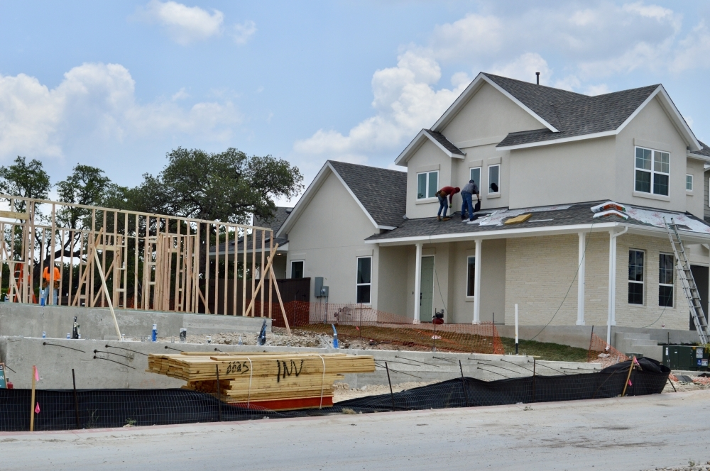 Homes are under construction in the Cross Creek development near 183A Toll in Cedar Park