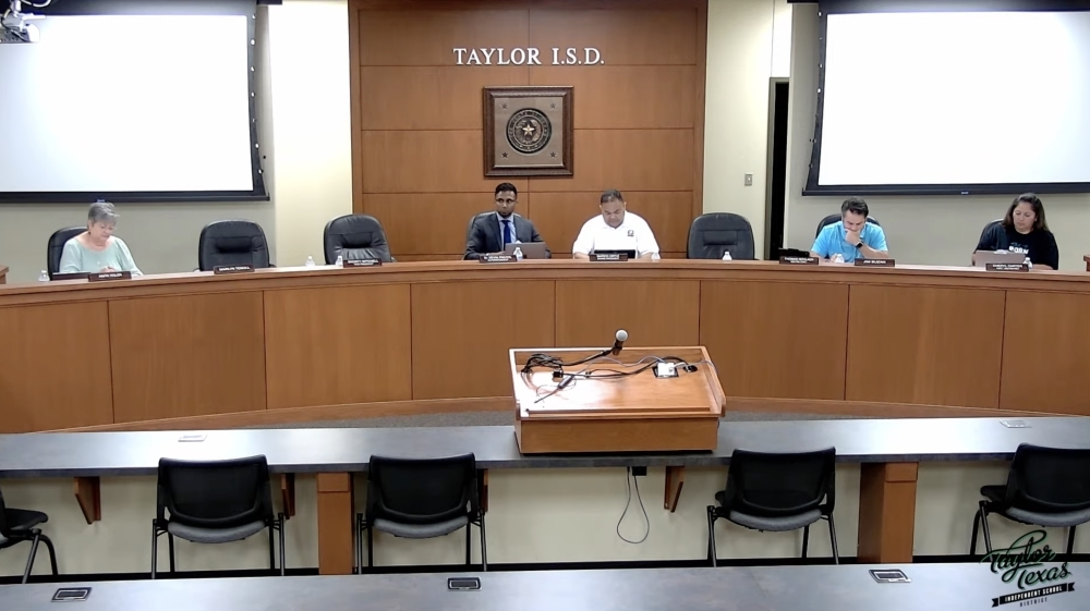 The Taylor ISD board of trustees met June 30 and approved an application for property tax value limitation from Samsung Austin Semiconductor. (Screenshot courtesy Taylor ISD)