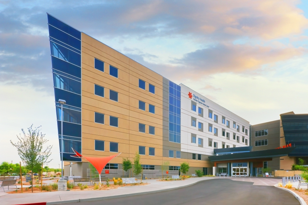 A new patient tower was unveiled at Dignity Health Chandler Regional Medical Center with a dedication ceremony July 16, according to a news release from Dignity Health. (Courtesy Dignity Health Chandler Regional Medical Center)