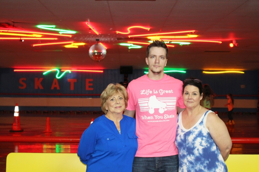 From left: Owner Gloria Tate, Assistant Manager Josh Oldham and General Manager Rachel Tate lead the Humble Family Skate Center. (Wesley Gardner/Community Impact Newspaper)