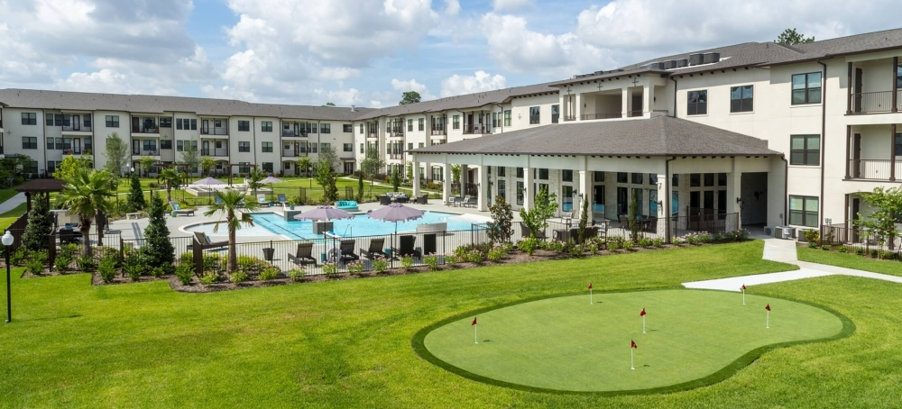 Ivy Point Klein is a luxury apartment complex geared for active adults age 55 and older, featuring one- and two-bedroom floor plan options as well as a slate of resort-style amenities, regular group activities and special resident events. (Courtesy Ivy Point Klein)