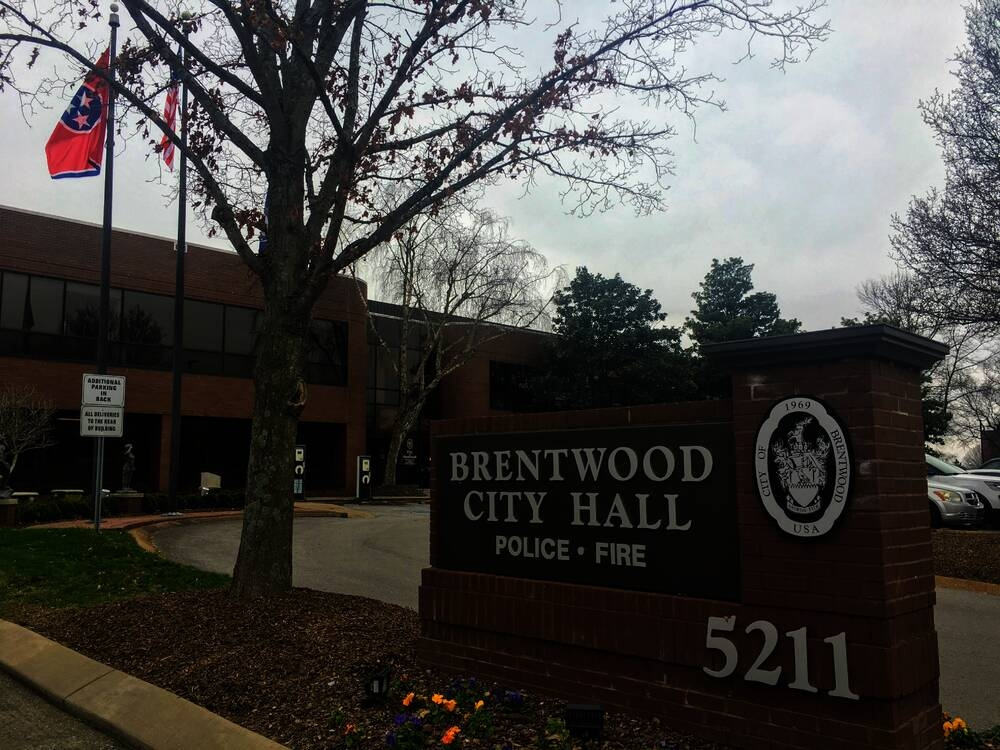 Brentwood City Hall is located at 5211 Maryland Way. (Wendy Sturges/Community Impact Newspaper)
