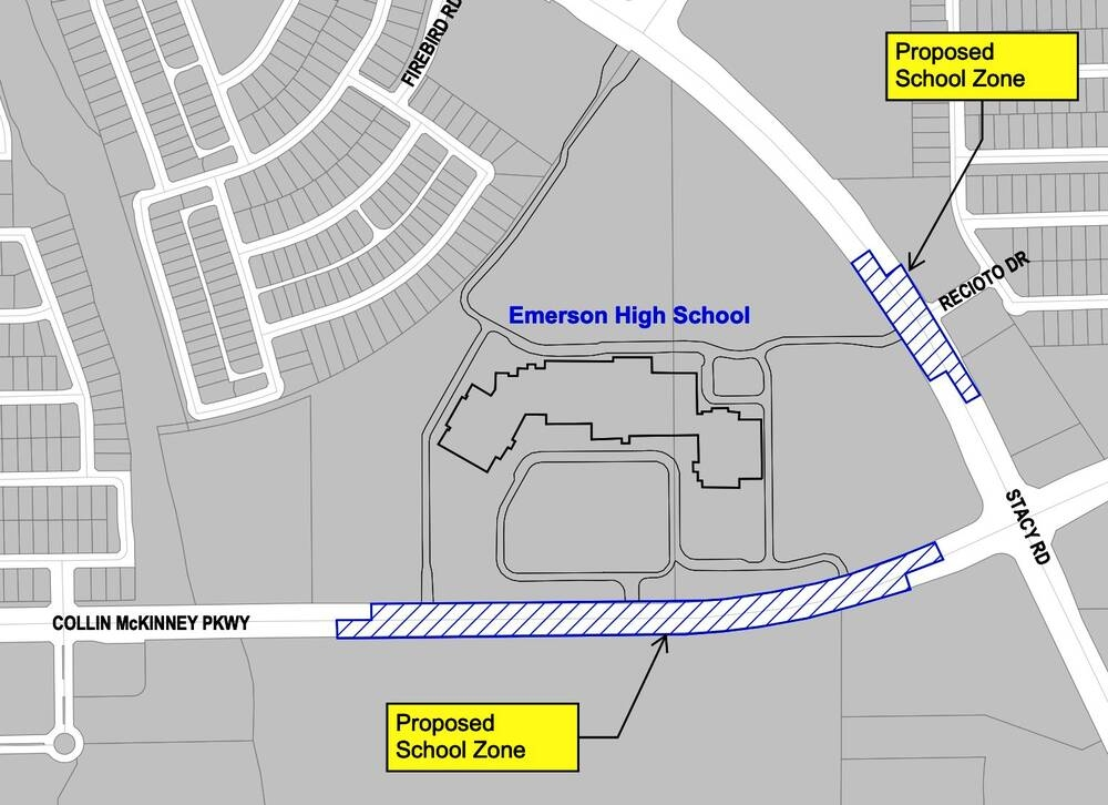 Emerson school zone map