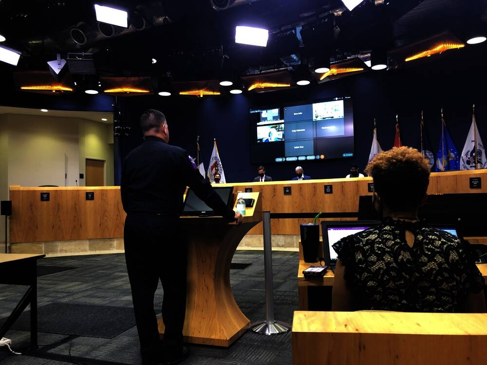 Jasper Brown, interim chief of Austin Travis County EMS, proposed that the city add $1.2 million to its budget for EMS to prepare for mass shootings. (Maggie Quinlan/Community Impact Newspaper)
