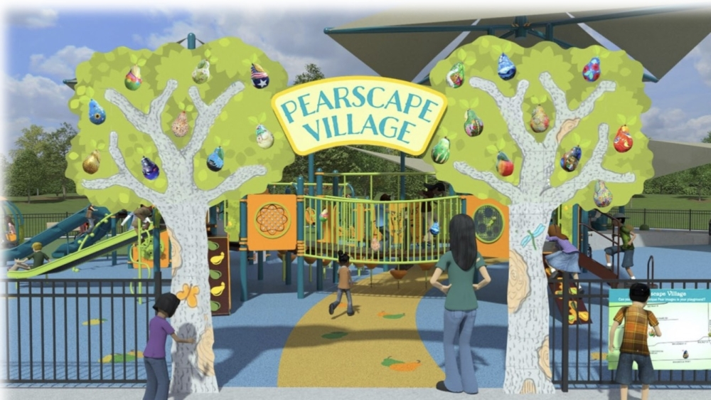 Some of the features the all-inclusive playground will include are a wheelchair swing, a sensory tunnel, a gallery walk with 3D images of the playground design and it can even be used for physical therapy, said Nikki Kamkar, board member at Forever Parks Foundation. (Courtesy of Forever Parks Foundation)