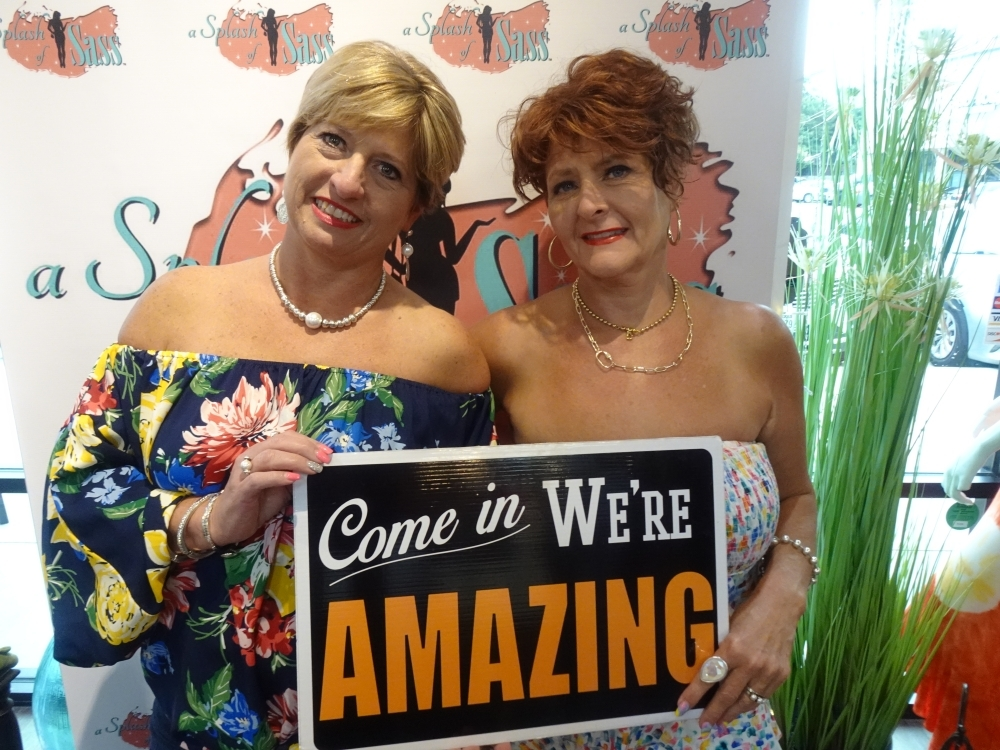 Sheri Kendrick (left) and D'Ann Gummelt (right) opened the boutique in 2015. (Emily Jaroszewski/Community Impact Newspaper)