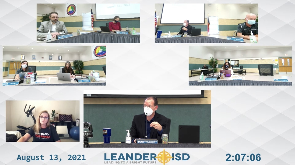 Leander school board members approved up to $6 million to fund its expanded virtual learning program that will begin Aug. 19. (Screenshot courtesy Leander ISD)