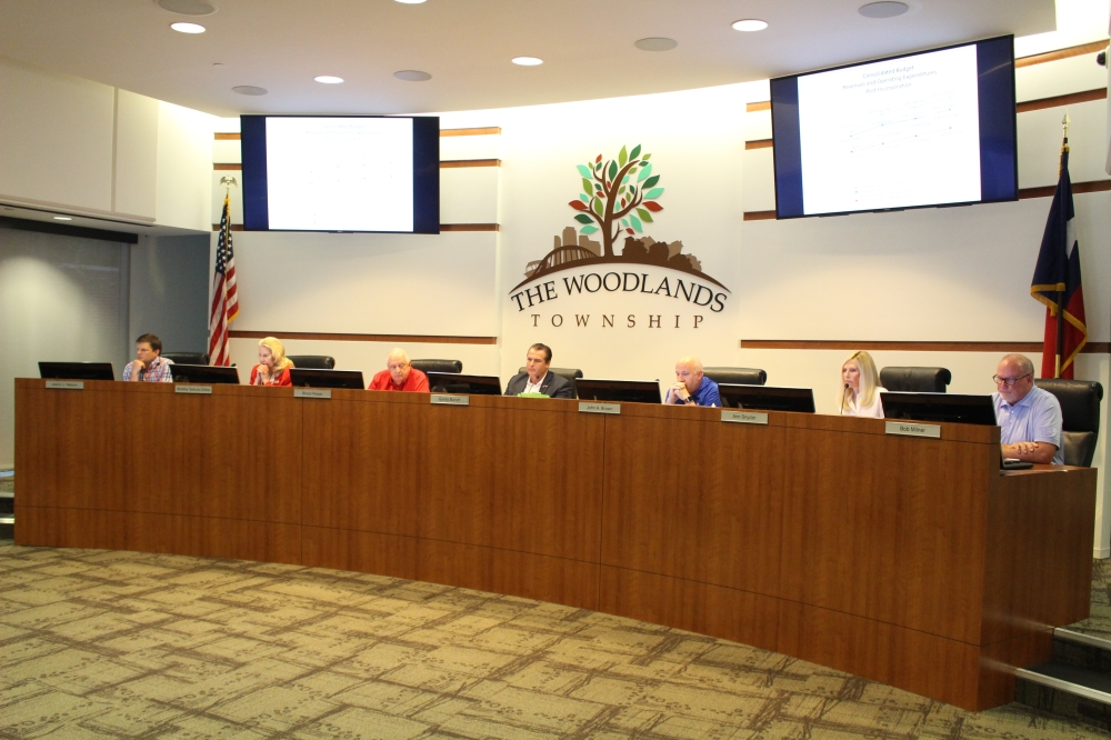 The Woodlands Township board of directors held a special meeting Aug. 13. (Andrew Christman/Community Impact Newspaper)