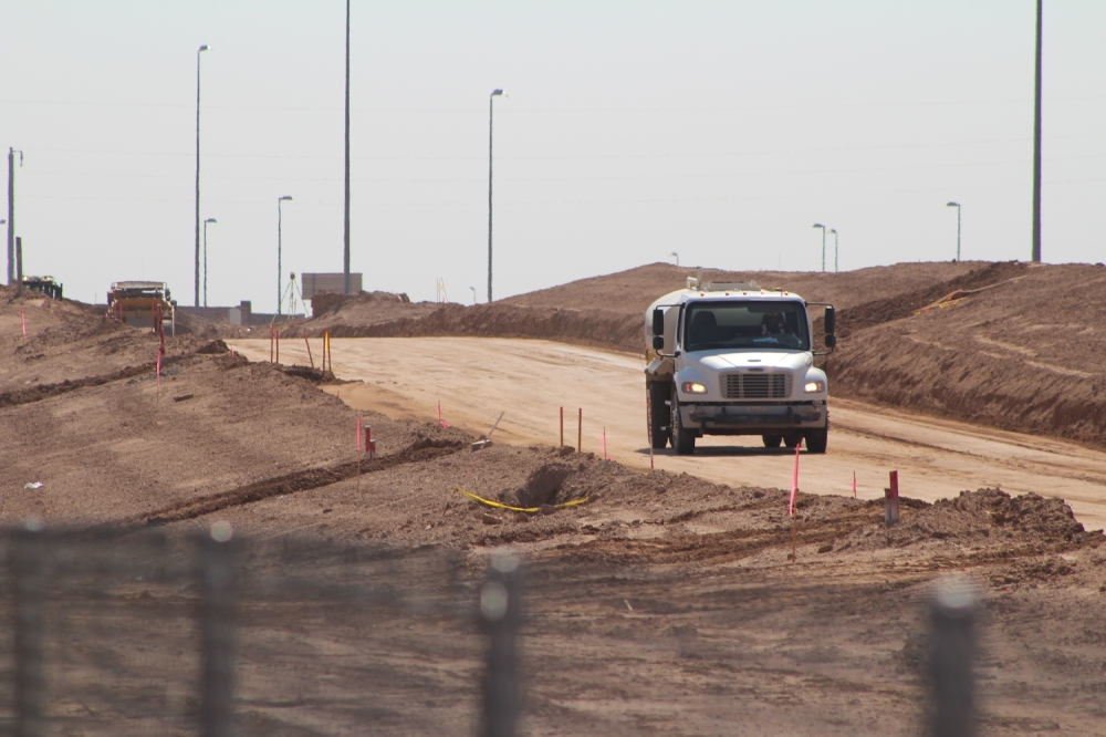 Lindsay Road interchange construction