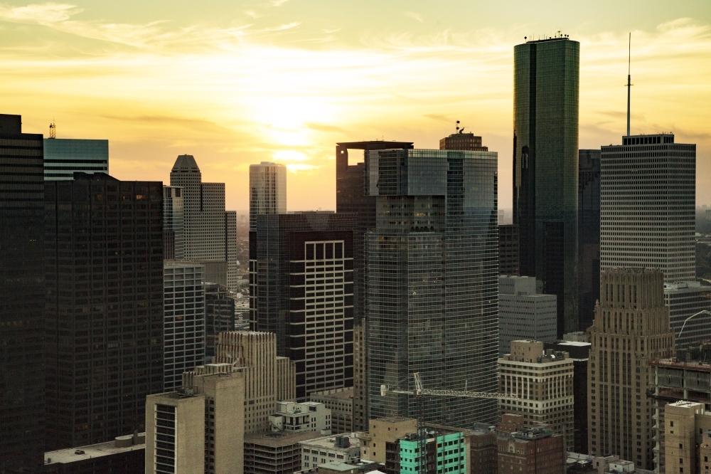 Houston skyline at twilight