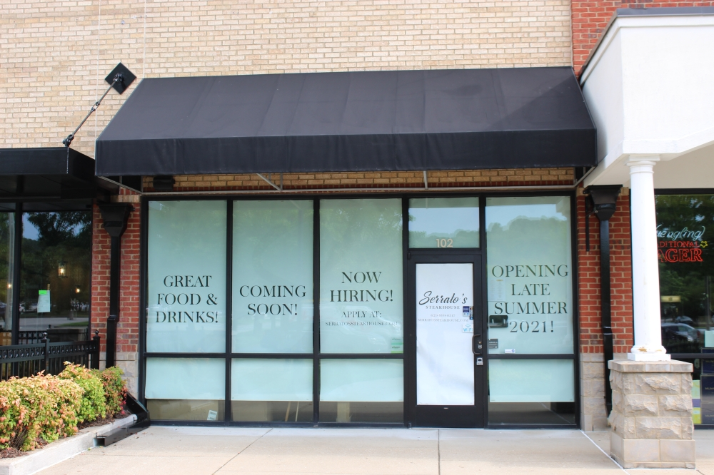 Serrato's Steakhouse is slated to open in late summer. (Wendy Sturges/Community Impact Newspaper)