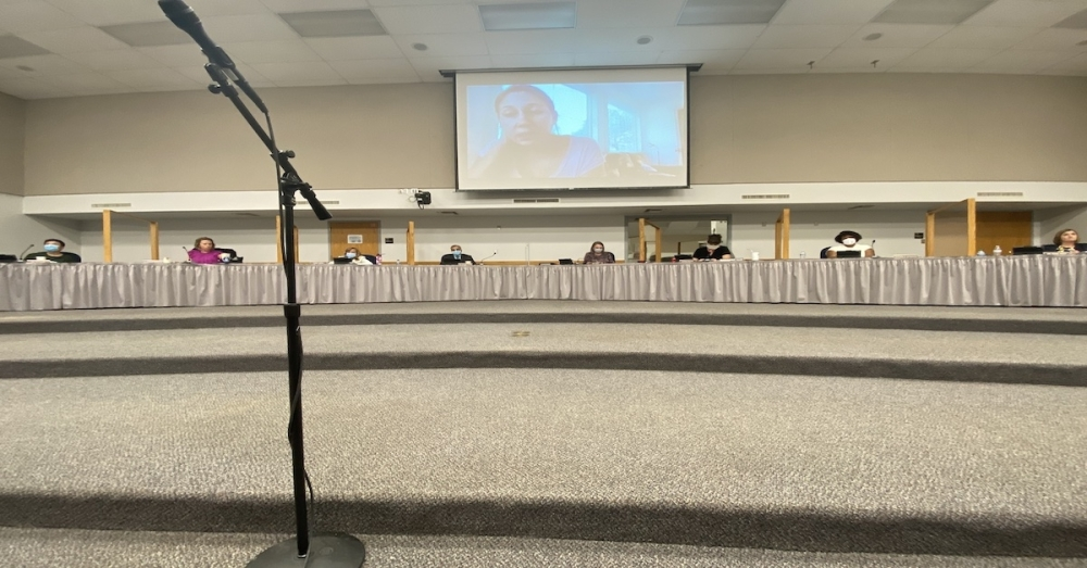 The Round Rock ISD School Board of Trustees received public comment from 36 speakers ahead of its Aug. 19 meeting. (Brooke Sjoberg/Community Impact Newspaper)