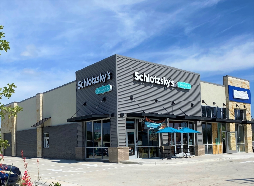 The new Schlotzky's on Congress includes a Cinnabon menu and sits near the first Schlotzky's location that opened in 1971. (Courtesy Schlotzky's)