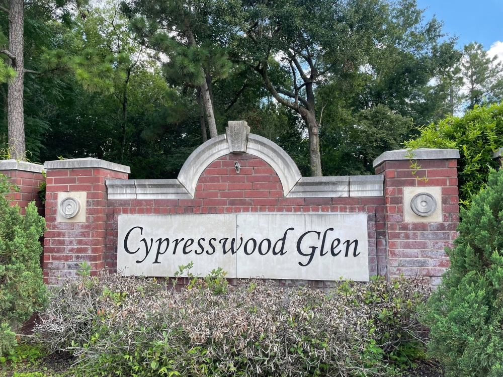 Located near the intersection of Ella Boulevard and Louetta Road, Cypresswood Glen comprises 272 single-family homes and is zoned to Klein ISD. (Hannah Zedaker/Community Impact Newspaper)