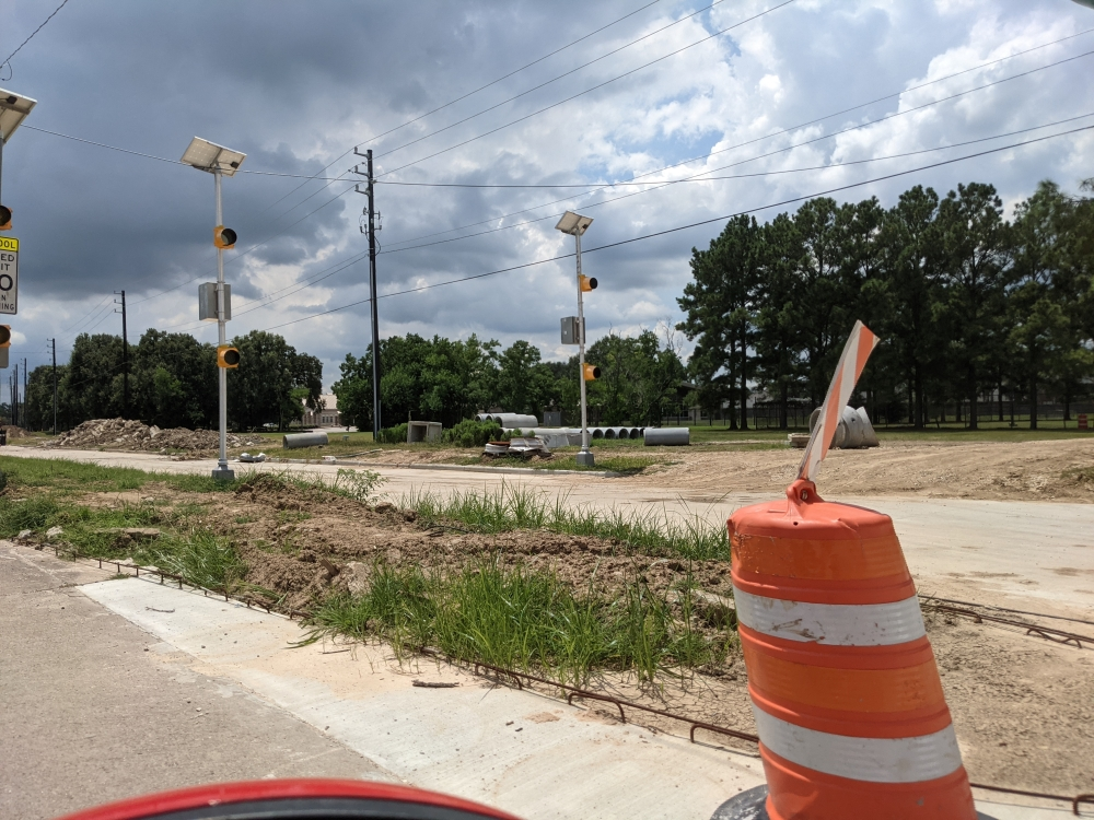 Due to the addition of in-ground detention, the widening project has been split into two phases. (Courtesy Montaya Magee)