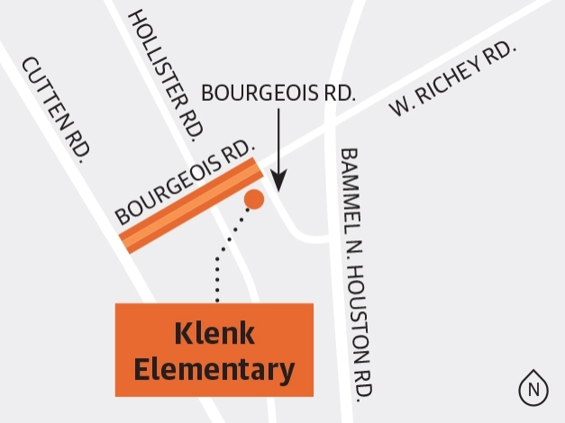Precinct 4 is studying a project to expand Bourgeois Road between Cutten and West Richey roads. (Ronald Winters/Community Impact Newspaper)