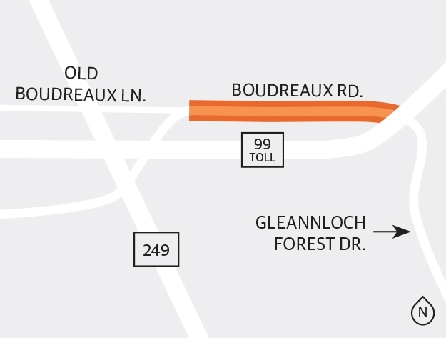 Another project in the study phase is the stretch of Boudreaux Road from Old Boudreaux Lane to Gleannloch Forest Drive along Spring's northern border, just south of Tomball. (Ronald Winters/Community Impact Newspaper)