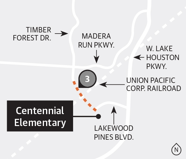 Harris County Precinct 2 is partnering with Harris County Precinct 1 and Humble ISD to extend Timber Forest Drive south of Madera Run Parkway. (Ronald Winters/Community Impact Newspaper)