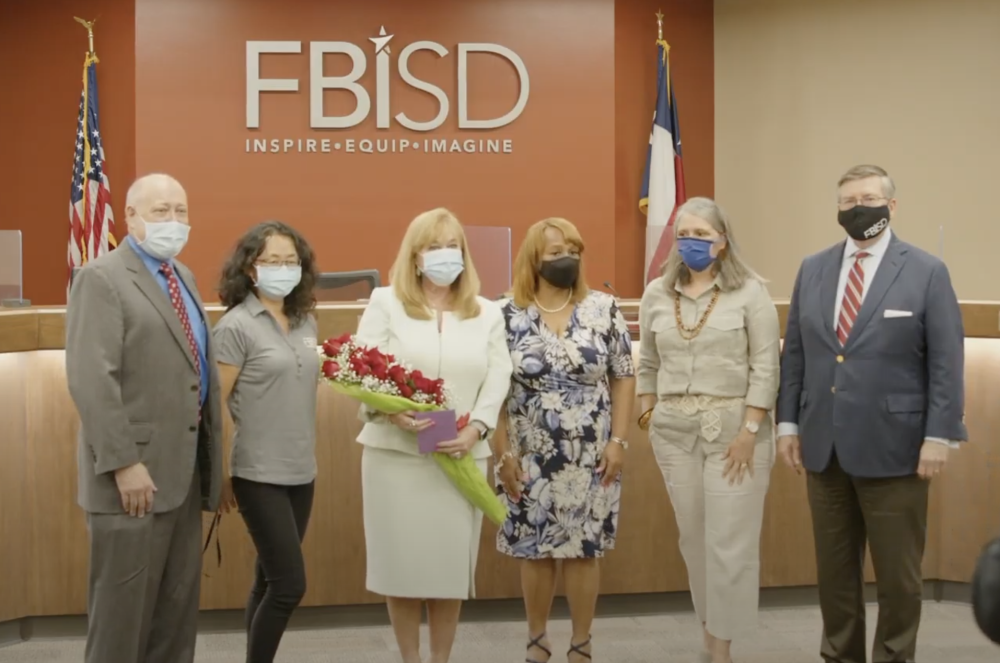 Six trustees voted to approve Whitbeck as the district's lone superintendent finalist, with only Trustee Denettta Williams abstaining from the vote.(Screenshot courtesy Fort Bend ISD)