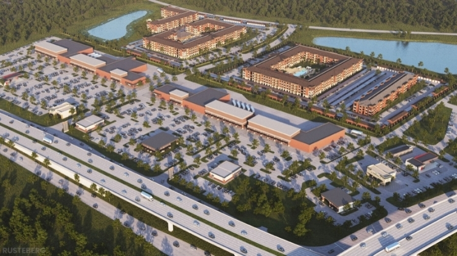 NewQuest Properties, the developer behind Fort Bend Town Center, has inked a deal that will bring 589 urban apartments and 200,000 square feet of mixed-commercial space to Missouri City. (Rendering courtesy NewQuest Properties)