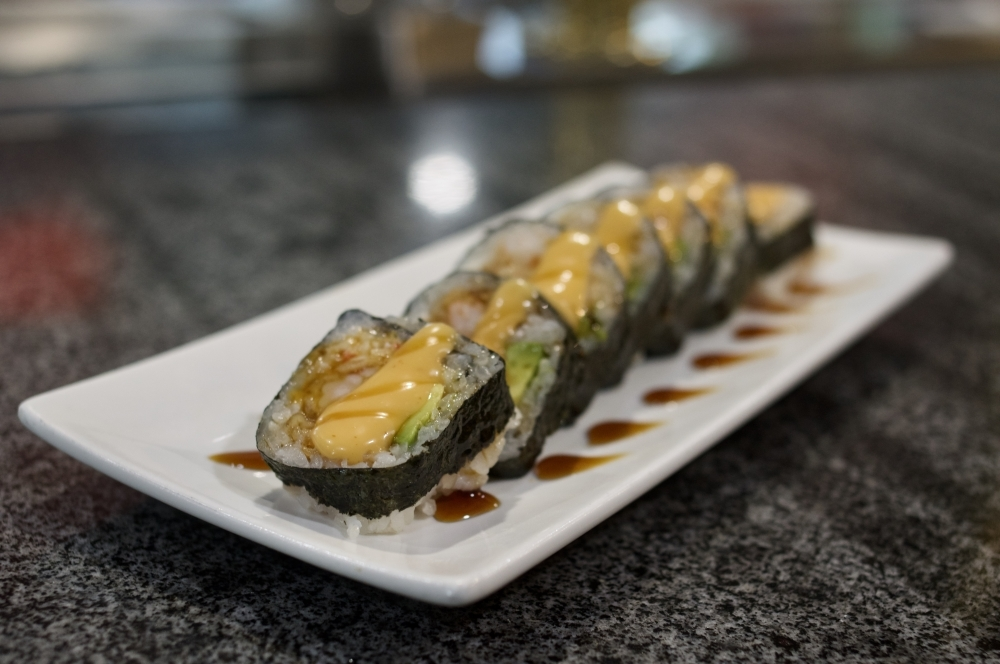 The Shrimp Tempura Roll ($9.95) is among an extensive list of rolls that can be ordered individually, and is one of the most popular items at Sakura. (Warren Brown/Community Impact Newspaper)