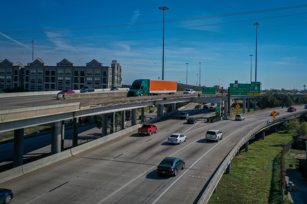 The North Houston Highway Improvement Project proposed rerouting I-45 through the East End and Fifth Ward, leaving the Pierce Elevated abandoned. (Nathan Colbert/Community Impact Newspaper)