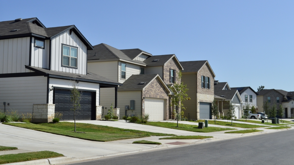 Most Summerlyn West homes were built in the last year by Centex. (Taylor Girtman/Community Impact Newspaper)