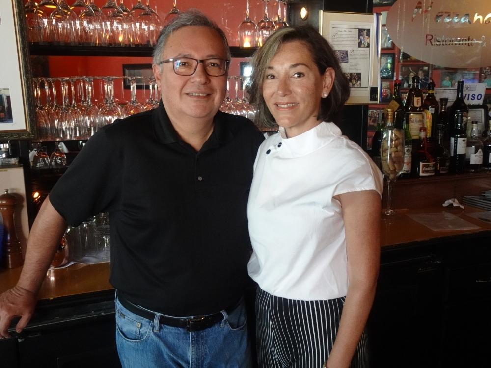 Gerry and Adriana Sarmiento opened Mezzanotte Ristorante in 2005, where they serve classic Italian dishes. (Emily Jaroszewski/Community Impact Newspaper)