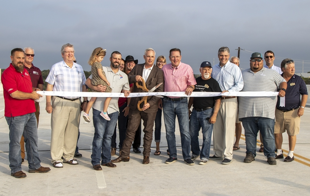 The city of Georgetown held a ribbon-cutting ceremony Aug. 27 to open the new bridge that will connect Rivery Boulevard to Austin Avenue. (Courtesy city of Georgetown)