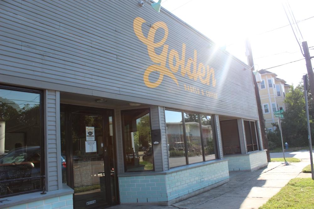 Golden Bagels & Coffee opened in January 2018 on White Oak Drive. (Shawn Arrajj/Community Impact Newspaper)