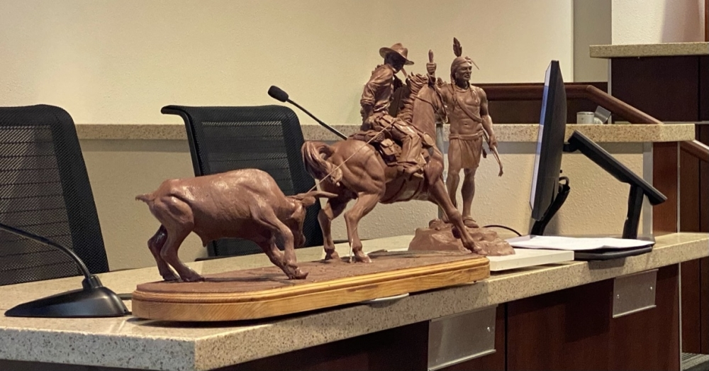 Models of the proposed sculptures were presented to the council ahead of the vote. (Brooke Sjoberg/Community Impact Newspaper)