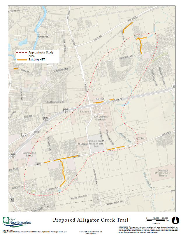 Details of the proposed trail are included in the city's Hike and Bike Trail Plan. (Courtesy City of New Braunfels)