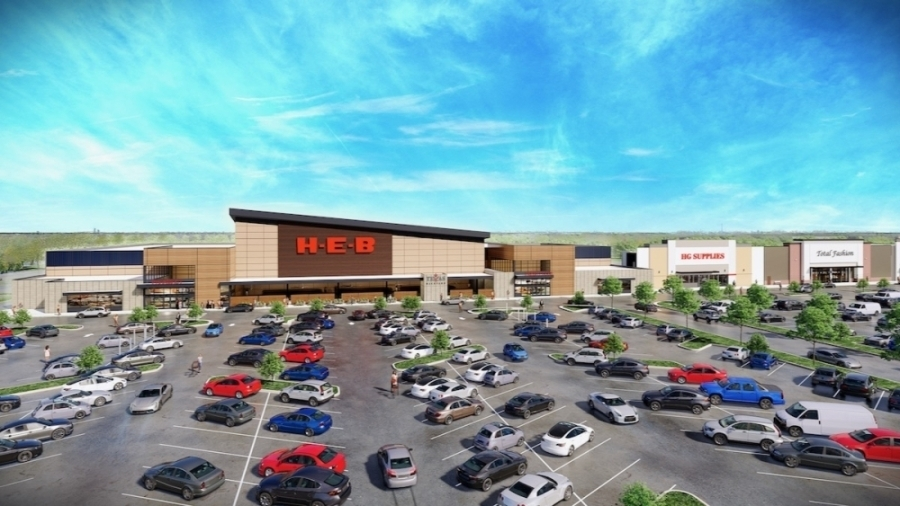 The Market at Willis Shopping Center is underway at the southeast corner of FM 1097 and I-45. (Rendering courtesy Fidelis)