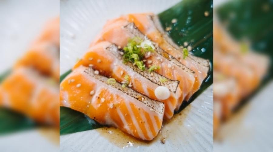 Kyodai Handroll & Sushi Bar features fatty salmon sashimi. (Courtesy Kyodai Handroll & Sushi Bar)