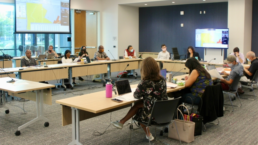 The Independent Citizens Redistricting Commission considered a finalized draft of an updated map for Austin's 10 City Council districts Sept. 15. (Ben Thompson/Community Impact Newspaper)