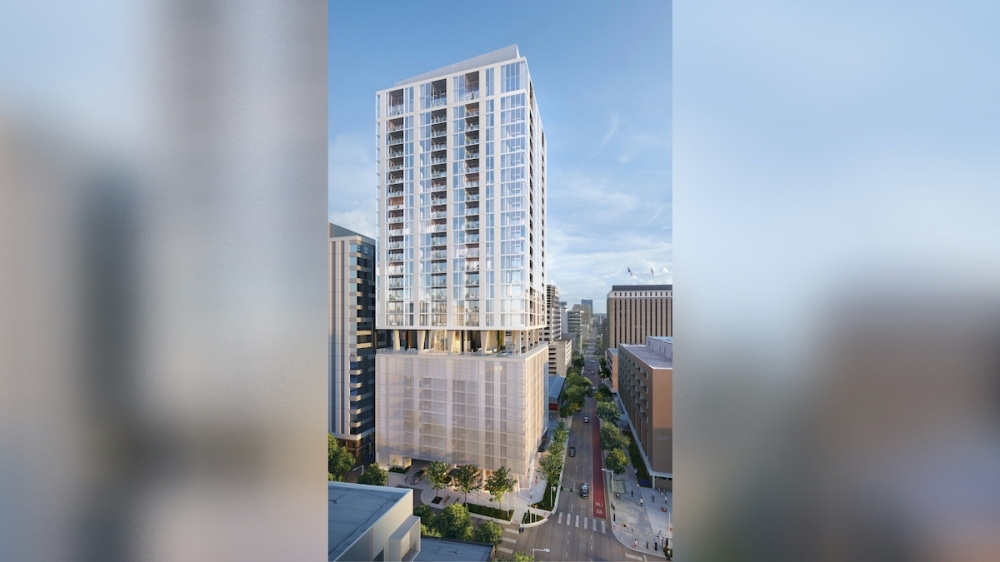The 28-story tower is expected to open on West 17th Street in 2023. (Rendering courtesy Rhode Partners)