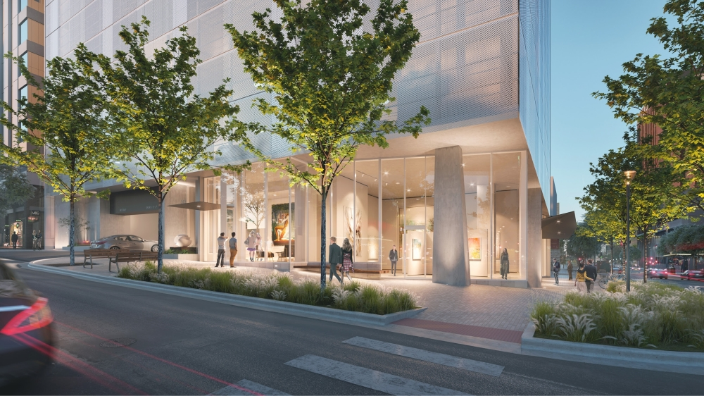 The Central Austin tower will feature 'museum-inspired' details in the city's Museum District, according to the development team. (Courtesy Rhode Partners)