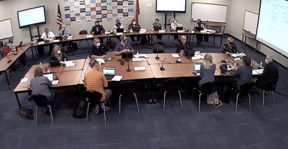 The Williamson County Schools Board of Education met for a work session Sept. 16. (Screenshot via www.wcs.edu)