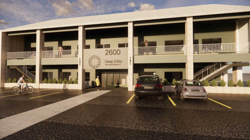 A rendering shows the new Deep Eddy Psychotherapy office coming to Southwest Austin. (Courtesy of Deep Eddy Psychotherapy)