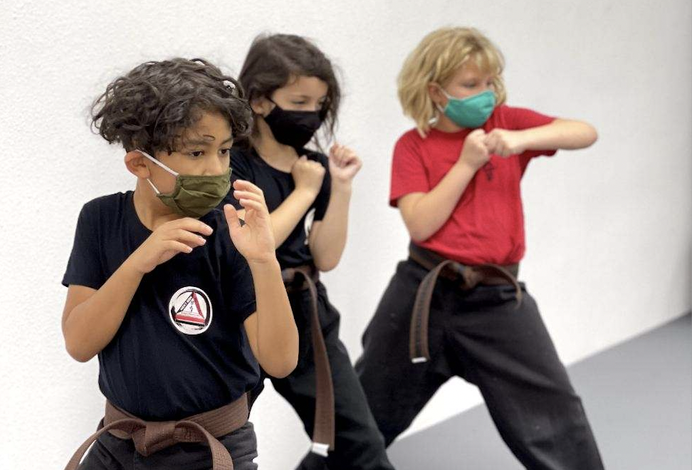 Students practice at the new Next Gen Mu Sool school location. (Courtesy Next Gen Mu Sool)