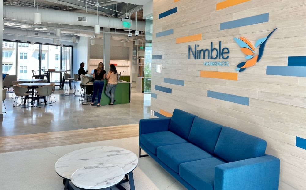 Nimble Workspaces, which offers flexible office options for businesses, opened Sept. 7 in master-planned community Generation Park, 250 Assay St., Houston. (Photo courtesy of Nimble Workspaces)