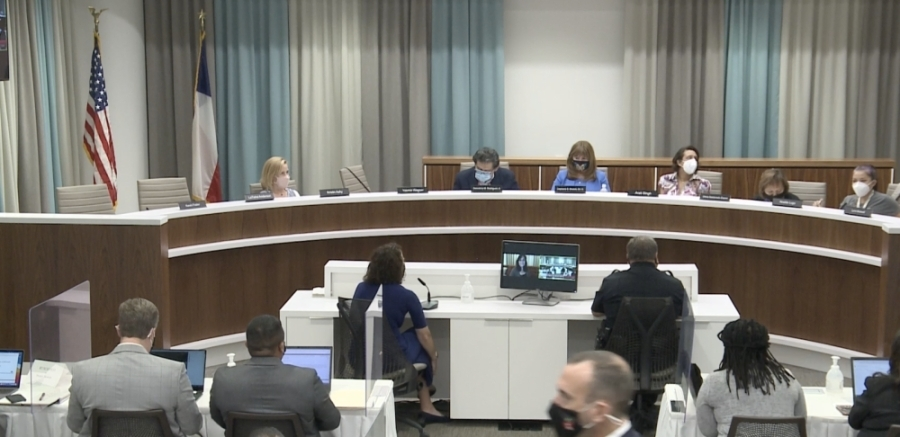 The Austin ISD board of trustees heard presentations about the number of students who go to college after high school graduation and how their certifications affect income. (Maggie Quinlan/Community Impact Newspaper)