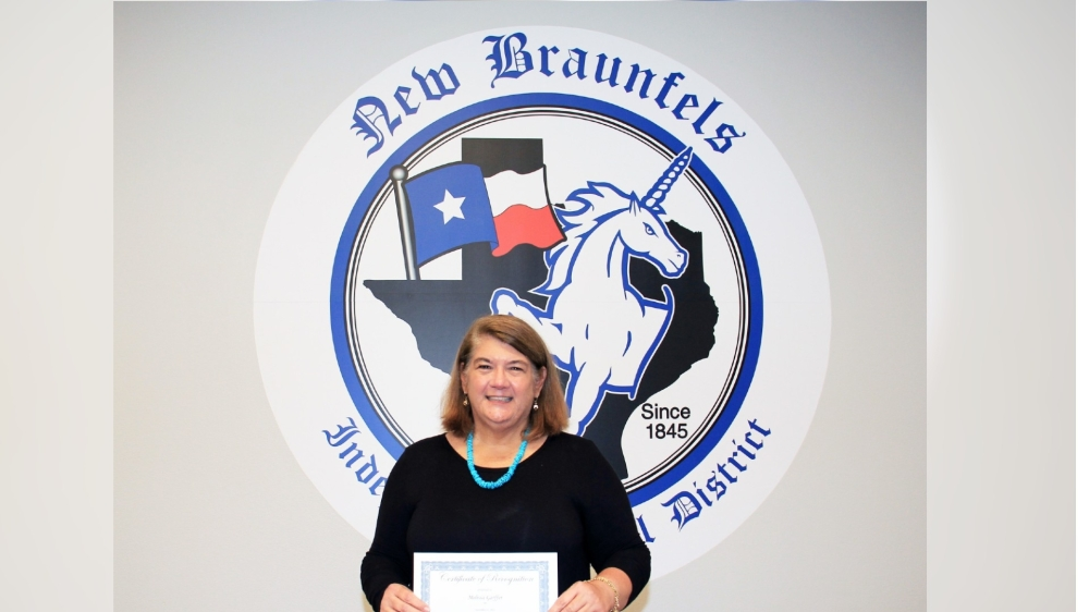 Garffer came out on top in a region that included 57 school districts. (Photo courtesy NBISD)