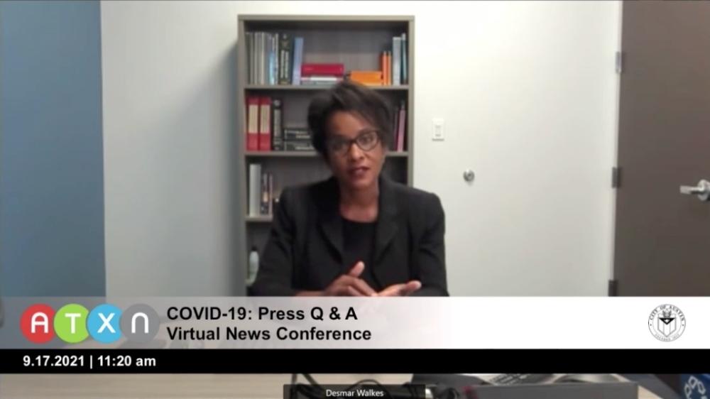 Screen shot of Dr. Desmar Walkes speaking