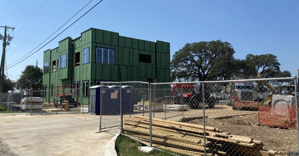 A new office building is bringing 2,646 square feet of Class A office space to 406 N. Lee St., Round Rock, in 2022. (Brooke Sjoberg/Community Impact Newspaper)