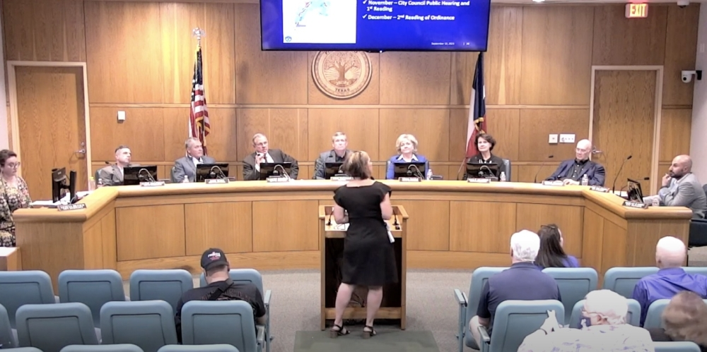 Director of Community Development Aubrey Harbin presented these changes to the City Council on Sept. 13 after conducting public outreach throughout the month of June. (Screenshot courtesy Friendswood City Council video stream)
