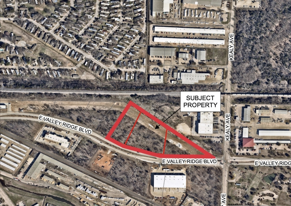 This map shows the location of the new Buxton Marine facility. (Courtesy city of Lewisville)