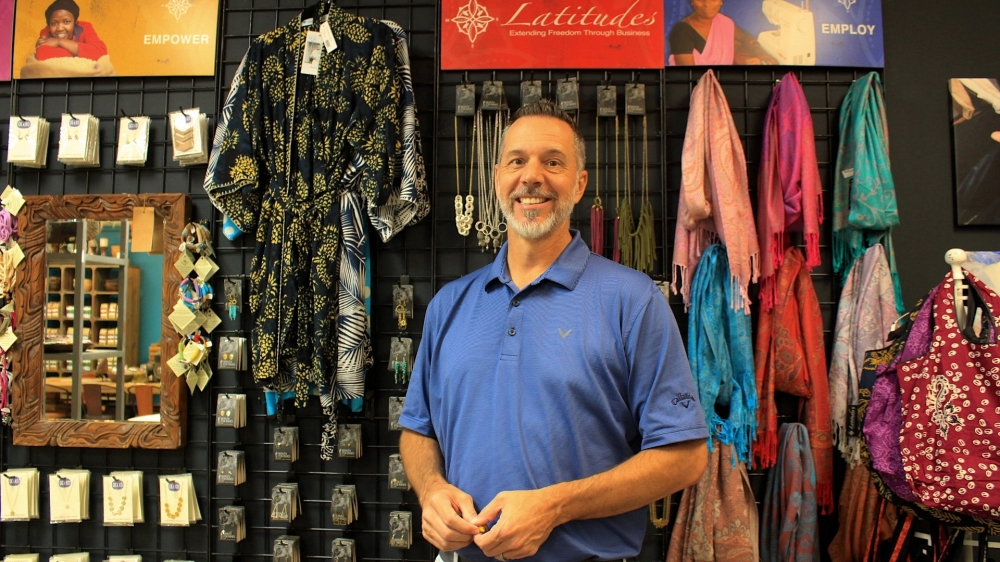 Mark Latham is director of Latitudes along with his wife in Grapevine. (Sandra Sadek/Community Impact Newspaper)