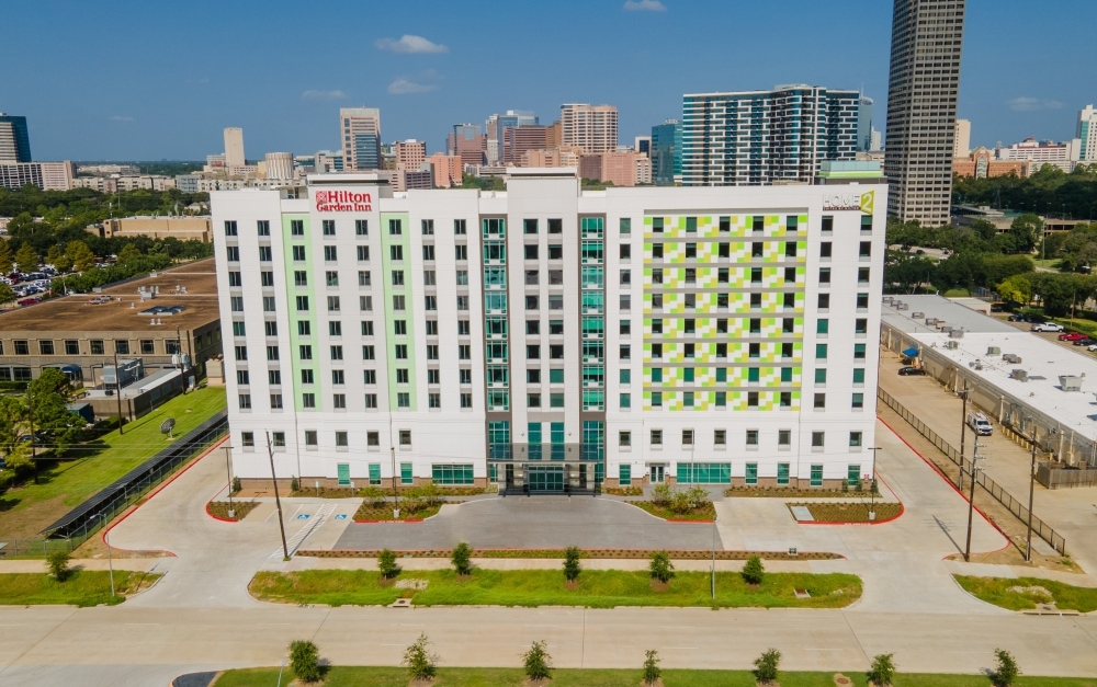 A new 300-room hotel has opened in Texas Medical Center's Michael E. DeBakey Veterans Affairs Medical Center campus. (Courtesy Michael Anthony)